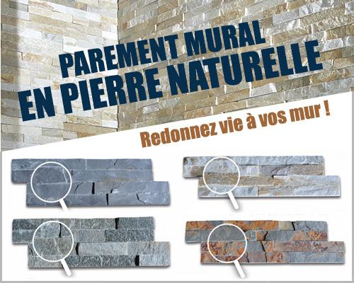Parement mural en pierre naturelle