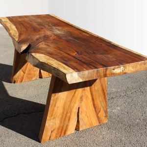 Table en bois de suar massif dimension 200 à 300 cm